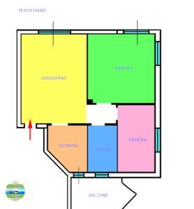 Appartamento trilocale in residence Marcelli (Numana)