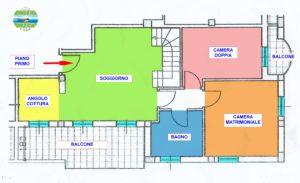 appartamento 3 camere porto recanati centro