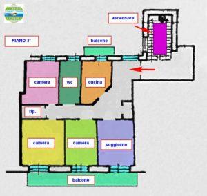 Porto San Giorgio (FM) Appartamento 3 camere in centro